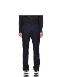 Темно-синие шерстяные брюки чинос от Burberry