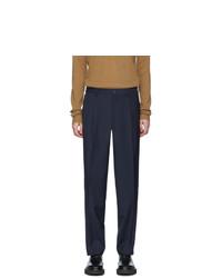 Темно-синие шерстяные брюки чинос от Etro