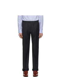 Темно-синие шерстяные брюки чинос от Gucci