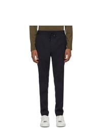 Темно-синие шерстяные брюки чинос от Hugo