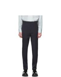 Темно-синие шерстяные брюки чинос от Jil Sander