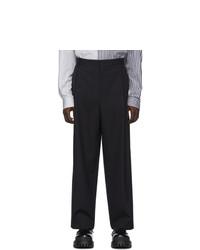 Темно-синие шерстяные брюки чинос от Juun.J