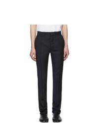 Темно-синие шерстяные брюки чинос от Maison Margiela