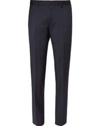Мужские темно-синие шерстяные классические брюки от Hugo Boss
