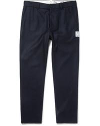 Мужские темно-синие шерстяные классические брюки от Moncler Gamme Bleu