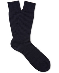 Мужские темно-синие шерстяные носки от Pantherella