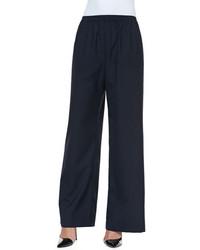 Темно-синие широкие брюки