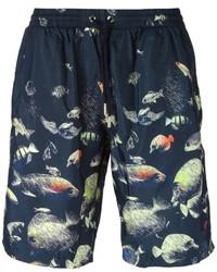 Темно-синие шорты для плавания с принтом от La Perla