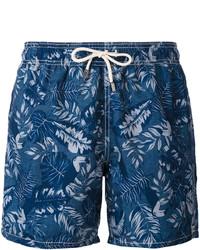 Темно-синие шорты для плавания с принтом от MC2 Saint Barth