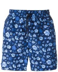 Темно-синие шорты для плавания с принтом от Polo Ralph Lauren