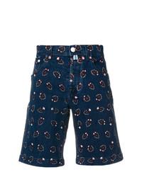 Мужские темно-синие шорты с принтом от Jacob Cohen