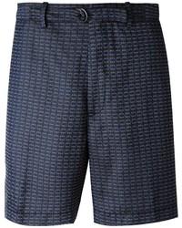 Мужские темно-синие шорты с принтом от Lanvin