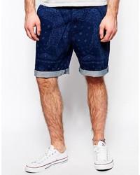 Мужские темно-синие шорты с принтом от Lee