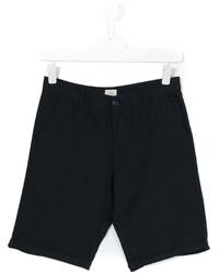 Детские темно-синие шорты для мальчику от Armani Junior