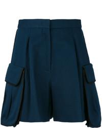 Женские темно-синие шорты от Fendi