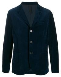 Мужской темно-синий бархатный пиджак от Harris Wharf London