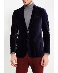 Мужской темно-синий бархатный пиджак от Riggi