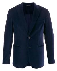 Мужской темно-синий бархатный пиджак от Tonello