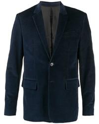 Мужской темно-синий бархатный пиджак от Zadig & Voltaire