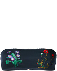 Темно-синий бикини-топ с вышивкой от Stella McCartney