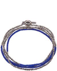 Мужской темно-синий браслет из бисера от M. Cohen