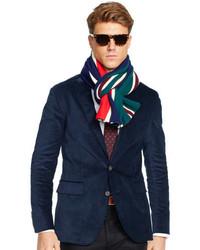 Темно-синий вельветовый пиджак