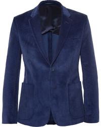 Мужской темно-синий вельветовый пиджак от Acne Studios