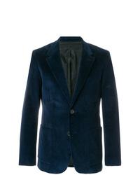 Мужской темно-синий вельветовый пиджак от AMI Alexandre Mattiussi