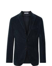 Мужской темно-синий вельветовый пиджак от Boglioli