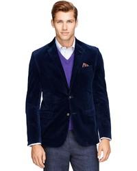 Мужской темно-синий вельветовый пиджак от Brooks Brothers