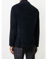 Мужской темно-синий вельветовый пиджак от Lardini