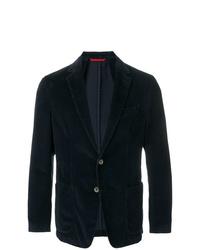 Мужской темно-синий вельветовый пиджак от Fay