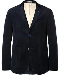 Мужской темно-синий вельветовый пиджак от Gant