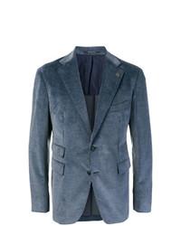 Мужской темно-синий вельветовый пиджак от Tagliatore