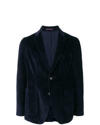 Мужской темно-синий вельветовый пиджак от The Gigi