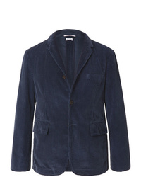 Мужской темно-синий вельветовый пиджак от Thom Browne