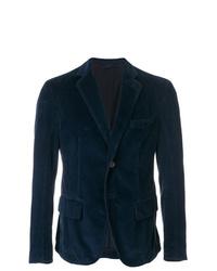Мужской темно-синий вельветовый пиджак от Weber + Weber