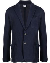 Мужской темно-синий вязаный пиджак от Aspesi