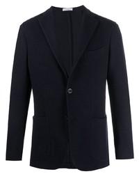 Мужской темно-синий вязаный пиджак от Boglioli