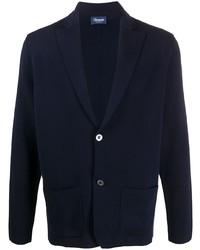 Мужской темно-синий вязаный пиджак от Drumohr