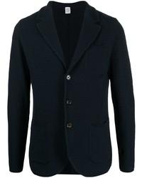 Мужской темно-синий вязаный пиджак от Eleventy