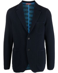 Мужской темно-синий вязаный пиджак от Missoni