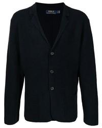 Мужской темно-синий вязаный пиджак от Polo Ralph Lauren