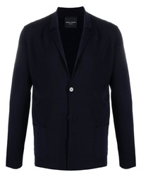 Мужской темно-синий вязаный пиджак от Roberto Collina