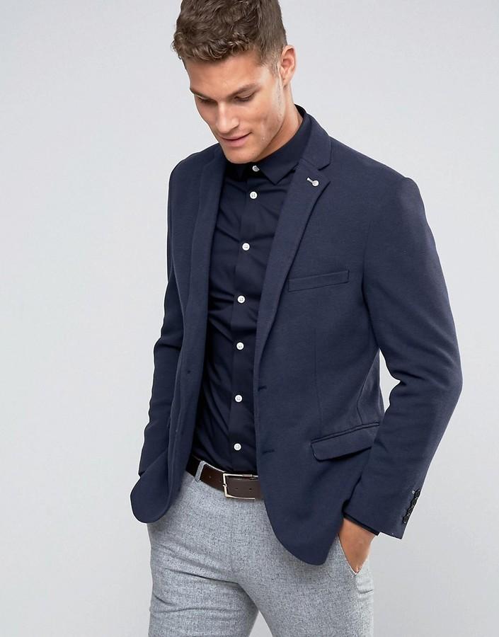 мужской темно синий вязаный пиджак от Selected 9 493 руб Asos