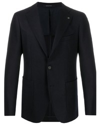 Мужской темно-синий вязаный пиджак от Tagliatore