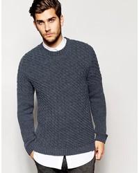 Мужской темно-синий вязаный свитер от Asos
