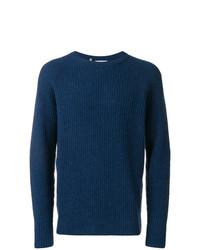 Мужской темно-синий вязаный свитер от Closed