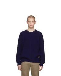 Мужской темно-синий вязаный свитер от Gucci