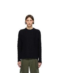 Мужской темно-синий вязаный свитер от Loewe